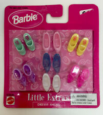 Unopened Pack Of Barbie Shoes. Little Extras Dressy Shoes. 1998