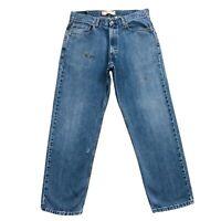 Levi's 550 Blau Bequemer Gerade Passform Jeans Größe W34
