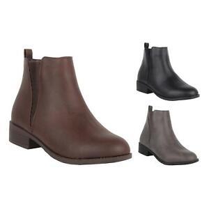 New Ladies Women Mid Heel Almond Toe Zip Inside Chelsea Ankle Boots Size 3-8