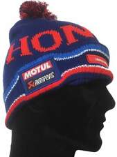 HAT Beanie Pom-Pom Bike Gear HONDA Road Racing and Endurance Team Blue NEW!
