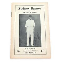 """.c1935 """"SYDNEY BARNES"""" THE GREATEST BOWLER OF ALL TIME BY WILFRID S WHITE."""