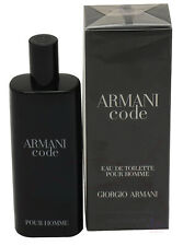 Armani Code By Giorgio Armani For Men Edt 0.50 oz/15 ml Spray New In Box