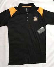 NWT BOSTON BRUINS Mens S/Sl Black Polo Shirt-Size Sm-Knights Apparel-NHL