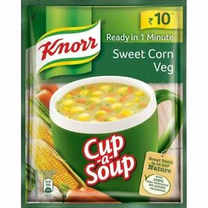 New Knorr Cup A Soup Sweet Corn Veg Ready in One Minute - 11 Gram x 20 Packets