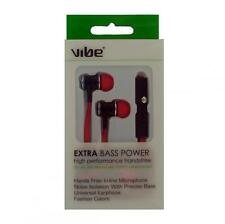 Vibe VI-36536 Rojo ruido isilation Extra Bass Power 3.5mm Conector Jack Auricular