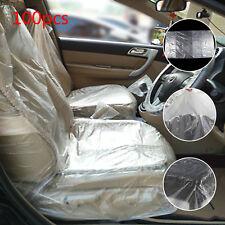 100PCS DISPOSABLE PLASTIC CAR SEAT COVERS VEHICLE PROTECTORS MECHANIC