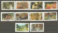France: full set - 10 used stamps, art - Impressionists, 2006, Mi#4030-9