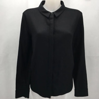 Kate Spade Saturday Black Wool Button Down Large