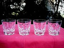 SAINT LOUIS CAMARGUE OLD FASHIONED WHISKEY GLASSES VERRE GOBELET WHISKY CRISTAL