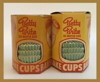 Vintage Betty Brite Bake Cups Muffin Baking Cups - 85 Ct - Set Of Two! - 1950's