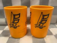 Vintage TULSA Plastic Whirley Cups (Lot of 2)
