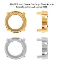 Genuine SWAROVSKI Round Stones Settings Fits to 1122 Rivoli Crystals