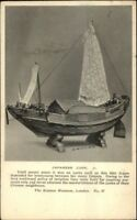 Ship Model - Japanese Junk c1920 Postcard