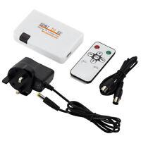 1080P HDMI To RF Coaxial Converter Box w/ Remote Control HDMI Coaxial Converter