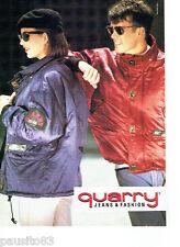 PUBLICITE ADVERTISING 046  1988   les  blousons vestes Quarry