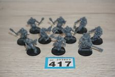 Warhammer 40k Chaos Marines Cultists x 10 including Anarkus Unpainted LOT 417