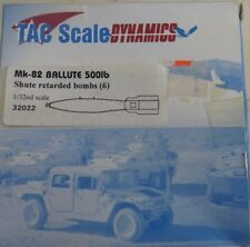 TAC SCALE DYNAMIC MK-82 BALLUTE 500LBS 32022 1/32 SCALE SHUTE RETARDED BOMBS