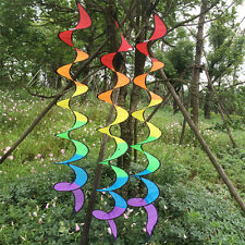Faltbare 140cm Regenbogen -Spirale Windmühle Bunte PVC Wind Spinner-Zelt-Dekor.