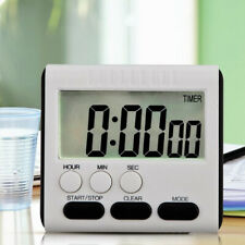 Digital Kitchen Timer LCD Cooking Count Down/Up Loud Alarm Magnetic Clock