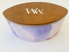 Woodwick Candle English Lavender Jar Candle -ARTISAN Collection Ellipse Scented