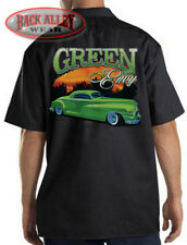 GREEN ENVY Low Rider Hot Rod Mechanics Dickies Work Shirt ~ Custom Lead Paint