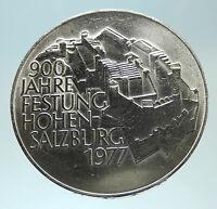 1977 AUSTRIA Hohensalzburg Castle in SALZBURG - Silver 100 Schilling Coin i76771