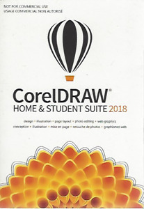 Corel DRAW Home & Student Suite 2018 Software App for Windows PC Brand New