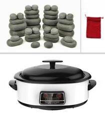 MassageMaster HOT STONE MASSAGE KIT: 36 Basalt Stones + 6 Litre Digital Heater