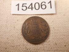 1847 German States 1/2 Kreuzer Wurttenberg Raw Collector Grade Coin - # 154061