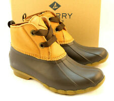 Sperry Top Sider Size 11 M Tan Brown Saltwater Duck Womens Rain Boot RETAIL $100