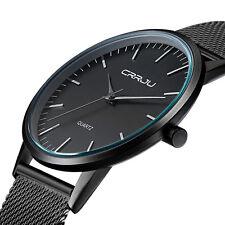 CRRJU Ultra Thin Sport Casual Quartz Watch Fresh Generous Mens Watch Business