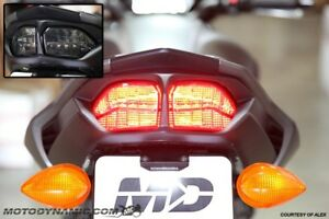 fit 11-13 Yamaha FZ8 FZ8N INTEGRATED SEQUENTIAL SIGNAL LED Tail Light SMOKE