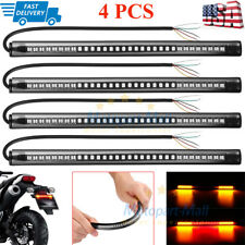 4 Flexible Motorcycle Led Strip 48Led Tail Brake Stop Turn Signal Running Lights (Fits: Aprilia)