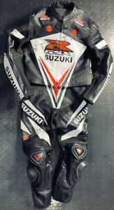 Suzuki Motorcycle Motorbike  Ladies Replica Leather Suit 1Pcs & 2Pcs