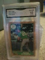 1987 Topps #366 Mark McGwire Oakland A's RC Rookie 10 GEM MINT GMA