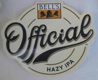 OFFICIAL HAZY IPA Beer STICKER Label, Bell's Brewery, Comstock, MICHIGAN
