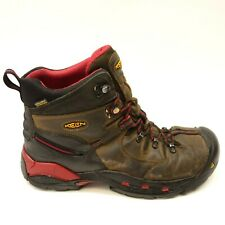 Keen Mens Utility Pittsburgh Brown Waterproof Safety Work Boots Size 12 D