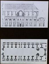 Plan/Section, Church of the Oratoire, Paris, France, Magic Lantern Glass Slide