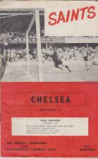 Programme / Programma Southampton FC v Chelsea FC 03-09-1966 incl. F.L.R.