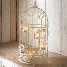 Vintage Large Lantern Cream 4 Glass Tealight Holders Ornate Detail Home Ambience