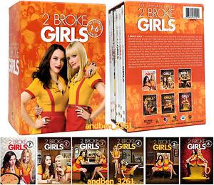 2 Broke Girls: The Complete Series 1-6  (DVD, 2017, 17-Disc) Season 1 2 3 4 5 6