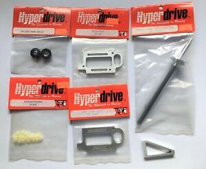 Vintage Hyperdrive Pan Car Parts Lot 1/10 RC NOS #5 Axle Motor Plates