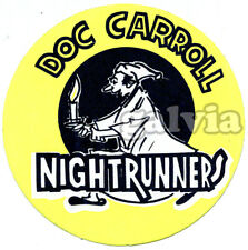 Original 1960s Irish showband promo sticker - Doc Carroll & The Nightrunners