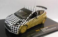Modellini statici di auto da corsa Rally scatola chiusa in metallo bianco per Ford