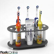 Electric Toothbrush Holder Toothpaste Holder 5x Toothbrush Stand Matt Grey White