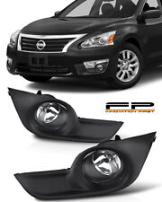 For 2013-2015 Nissan Altima Sedan 4Dr Clear Fog Lights Full Kit Switch+Harness