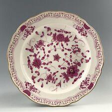 "Meissen Pink Indian Flower Cake Plate, 8.5"""