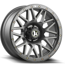 "18"" Klutch Offroad KT02 18x9 Gunmetal Wheels Rims Fits F-150 including Raptor"