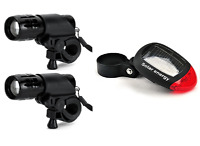 two pieces front & rear solar LED lights set kit road city mountain bike bicycle
