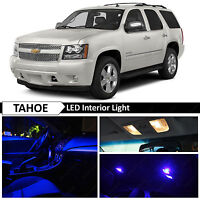 14x Blue Interior LED Light Package Kit for 2007-2014 Chevy Tahoe